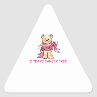 CANCER FREE BEAR TRIANGLE STICKER