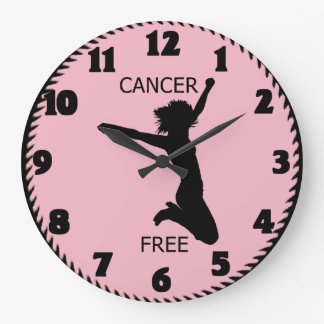 CANCER FREE LARGE CLOCK
