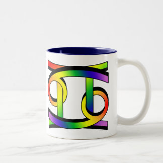 Cancer & Gemini GLBT Two-Tone Coffee Mug