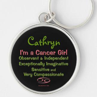 Cancer Girl Personalized Zodiac Keychain