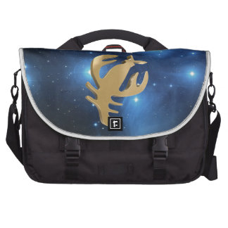 Cancer golden sign laptop bags