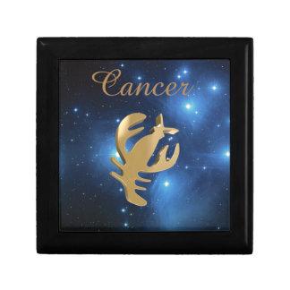 Cancer golden sign trinket boxes