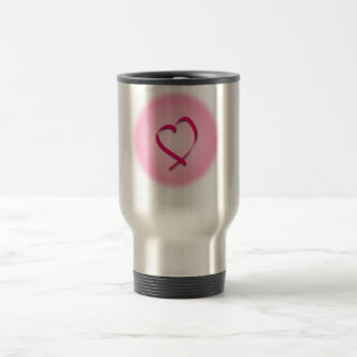 Cancer Heart Travel Mug