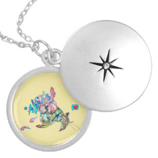 Cancer hermit locket necklace