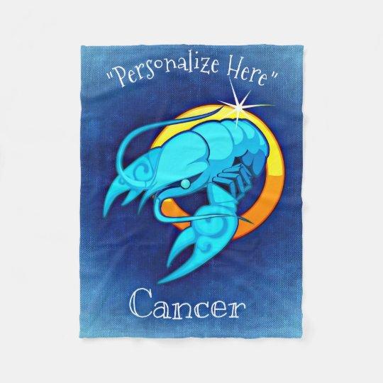 Cancer Horoscope Design Fleece Blanket