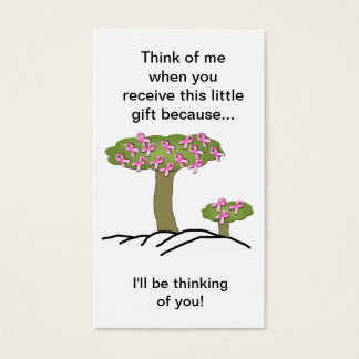 Cancer I'll Be Thinking Of You Bookmark Business Card