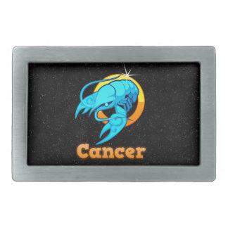 Cancer illustration rectangular belt buckle
