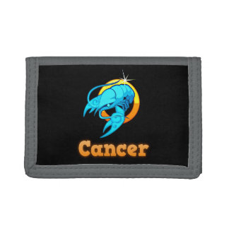 Cancer illustration trifold wallet