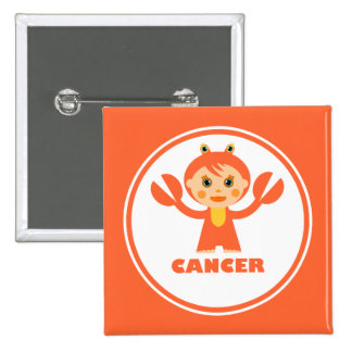 Cancer is my zodiac sign 2 inch square button