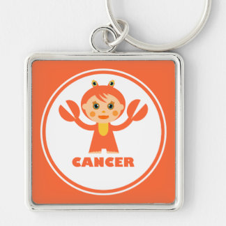 Cancer is my zodiac sign Silver-Colored square keychain