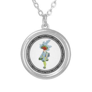 Cancer Larkspur Round Pendant Necklace