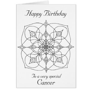 Meditation birthday cards photocards invitations more cancer mandala color your own birthday card bookmarktalkfo Choice Image