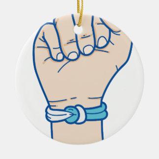 cancer men bracelet-01 round ceramic ornament