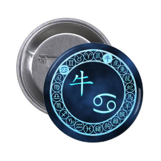 Cancer/Ox 2 Inch Round Button