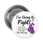 Cancer pancréatique je vais combattre badges avec agrafe