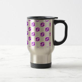 Cancer Pattern Purple Coffee Mugs