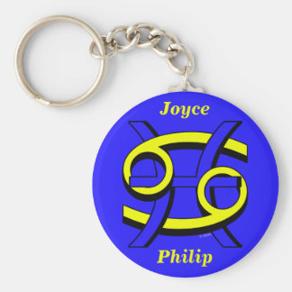 Cancer Pisces BY Key Chain