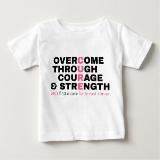 Cancer quote pink typography let's find a cure baby T-Shirt