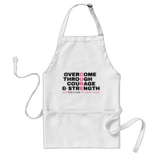 Cancer quote pink typography let's find a cure standard apron