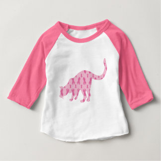 Cancer-Ribbon-Cat Baby T-Shirt