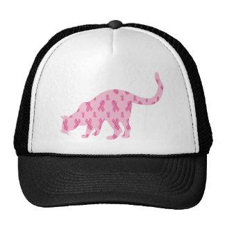 Cancer-Ribbon-Cat Trucker Hat