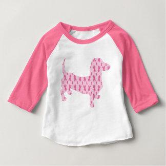 Cancer-Ribbon-Doxie Baby T-Shirt