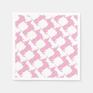 Cancer-Ribbon-Doxie Disposable Napkin