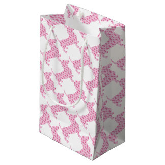 Cancer-Ribbon-Doxie Small Gift Bag