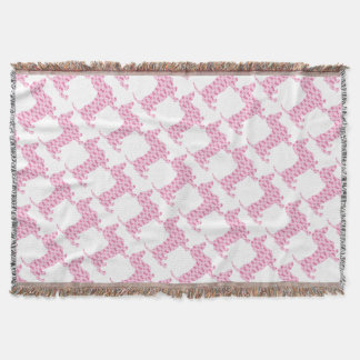 Cancer-Ribbon-Doxie Throw Blanket