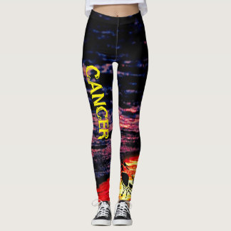 Cancer Running/Workout/Hangout Leggings