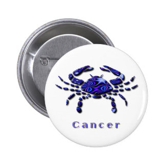Cancer Sign Round Pin