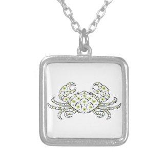 Cancer Square Pendant Necklace