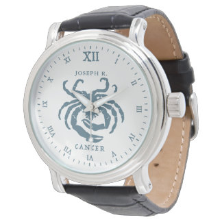 Cancer Star Sign Vintage Art | Customized Watch