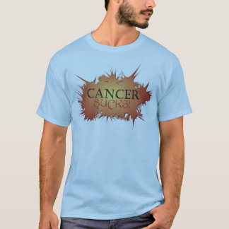 Cancer Sucks Blue Graphic Tee