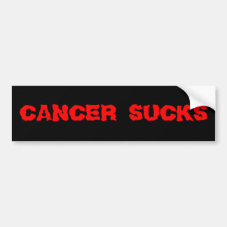 Cancer Sucks Bumper Sticker