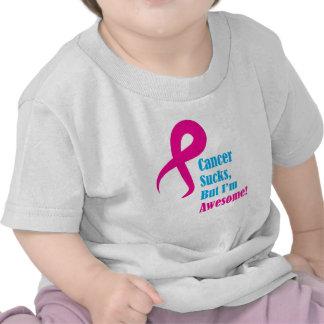 Cancer sucks but I'm awesome, pink ribbon Tshirt