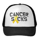 Cancer Sucks - Childhood Cancer Ribbon Trucker Hat