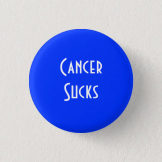 Cancer Sucks: Colon Cancer 1 Inch Round Button