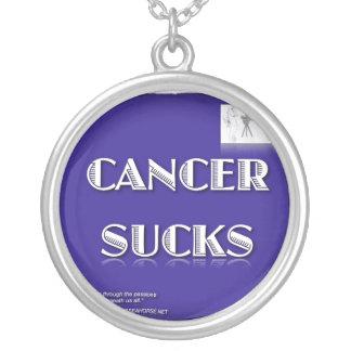 CANCER SUCKS ROUND PENDANT NECKLACE