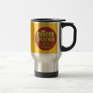 CANCER SUCKS STEEL TRAVEL MUG