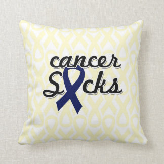 "Cancer Sucks Throw Pillow 20"" x 20"""