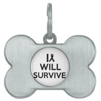 cancer survive pet tag