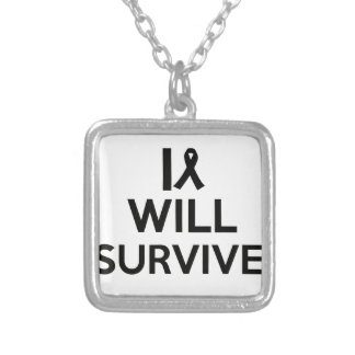 cancer survive silver plated necklace