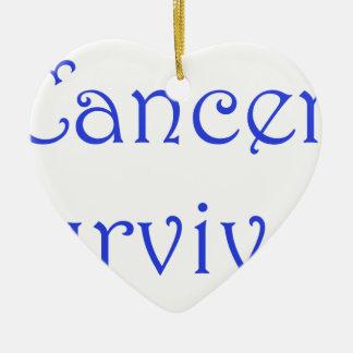 Cancer Survivor-Blue Ceramic Ornament