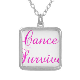Cancer Survivor Silver Plated Necklace