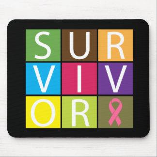 Cancer Survivor Tile Breast Cancer Mouse Pad
