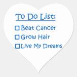 Cancer Survivor To Do List Heart Sticker