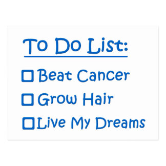 Cancer Survivor To Do List Postcard