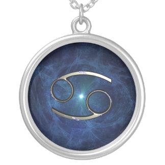 Cancer symbol round pendant necklace