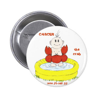 CANCER the crab button by Zodibabies